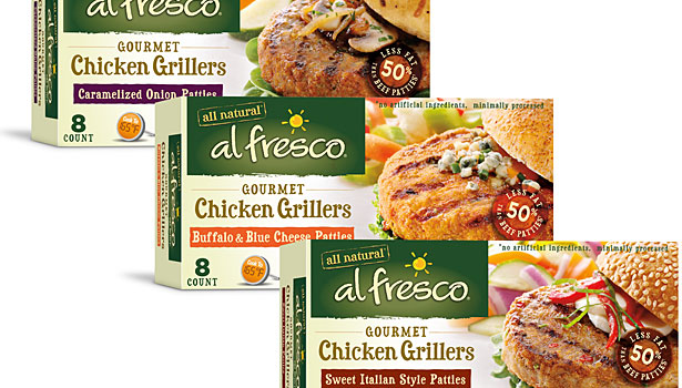 al fresco burgers, chicken burgers