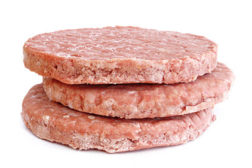 formed beef patties, formed protein product