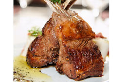 cooked rack of lamb