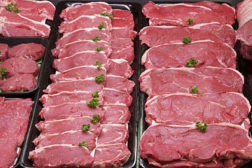 Raw meat, steaks, beef