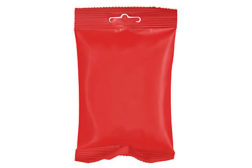 red pouch, pouch package