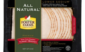Foster Farms' premium All Natural Sliced Turkey lunchmeat