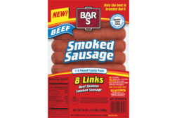Bar-S skinless sausage new product