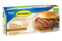 Butterball Everyday Frozen burgers