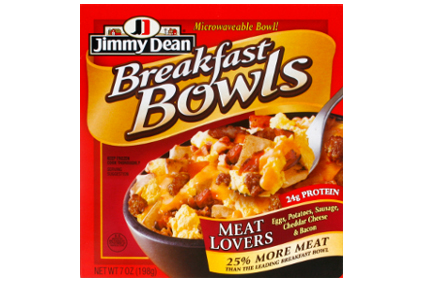 Jimmy Dean Meat Lovers Breakfast Bowl