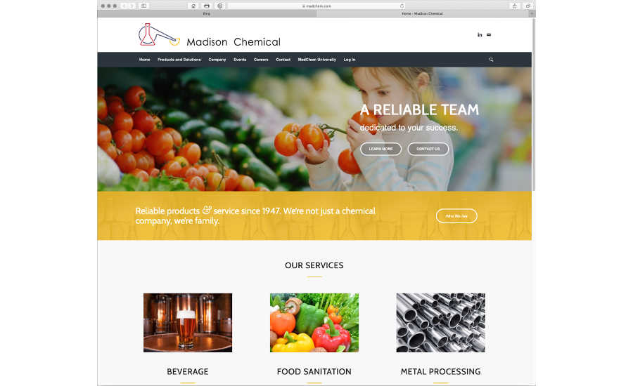 Madison Chemical website