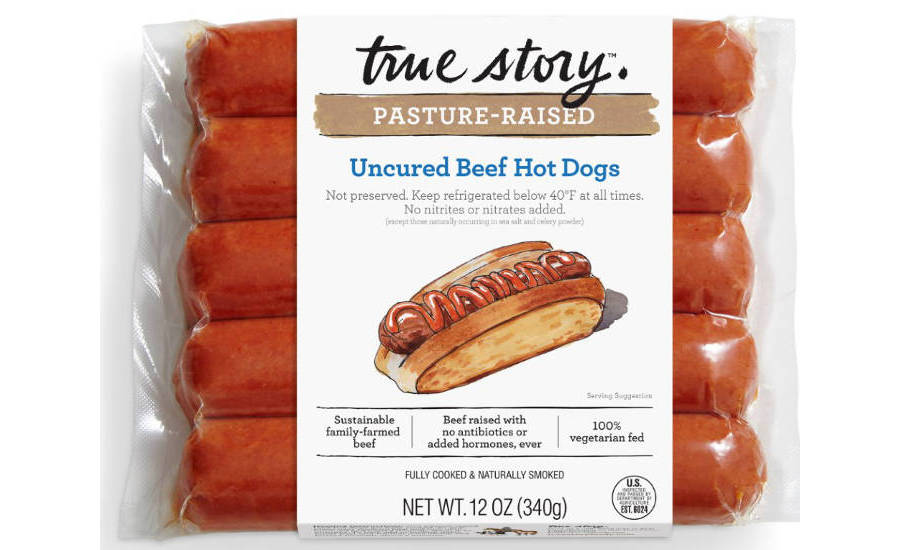 True Story Pasture-raised Uncured Beef Hot Dogs