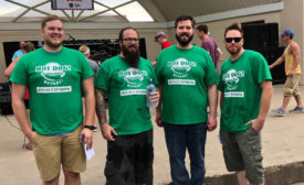 Hudson Days' Hot Dog Eating Contest Top Three Finishers