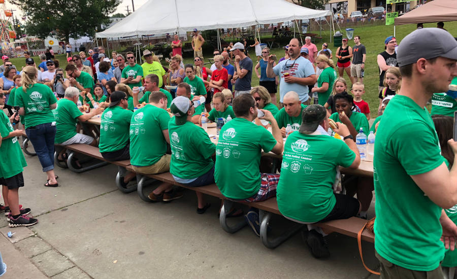 Hudson Days Hot Dog Eating Contest Contestants