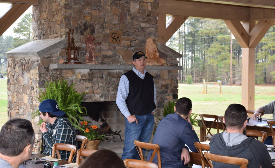 Andrew McPeaks Explains CAM Ranches' Operations to Group