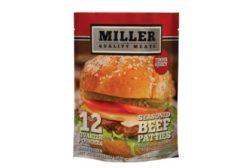 Miller frozen patties