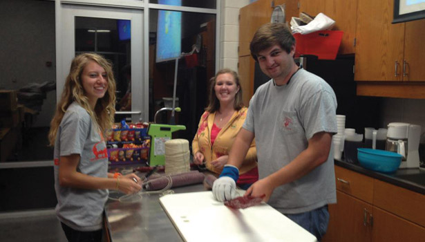 Auburn students working on project