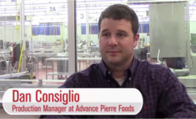 Dan Consiglio, production manager at AdvancePierre Foods