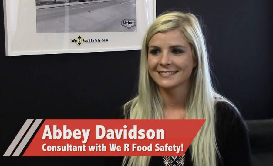 We R Food Safety! Consultant Abbey Davidson