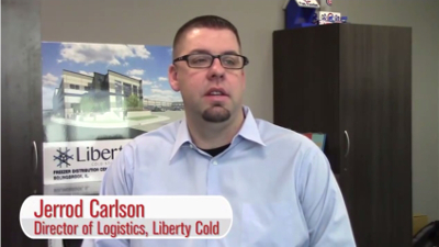 Jerrod Carlson, Director of Logistics for Liberty Cold