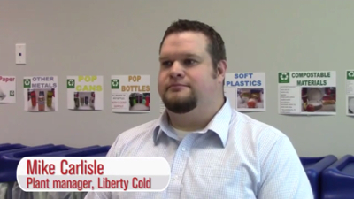 Liberty Cold plant manager Mike Carlisle