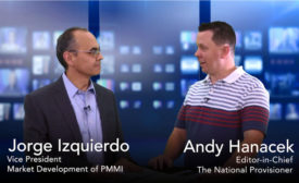 Jorge Izquierdo of PMMI and Andy Hanacek of The National Provisioner