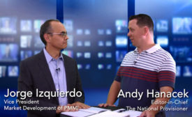 Jorge Izquierdo of PMMI and Andy Hanacek, editor-in-chief of The National Provisioner